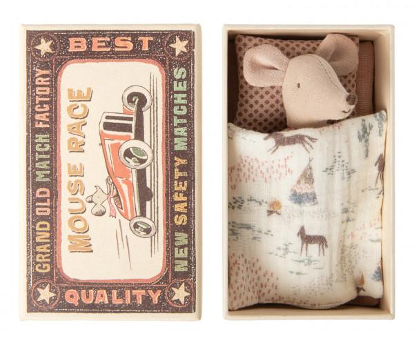 Little sister Mouse in box mit Pferdedecke von Maileg