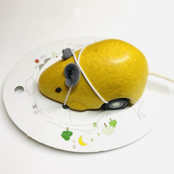 Rückzieh - Maus gelb von Plan Toys