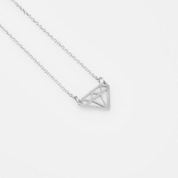 """""""Kleiner Diamant"""" Kette Silber"""
