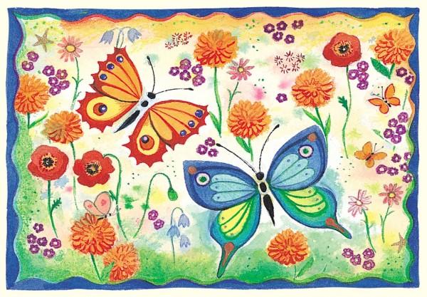 """Postkarte """"glitzer Schmetterlinge"""" von Captain Card"""