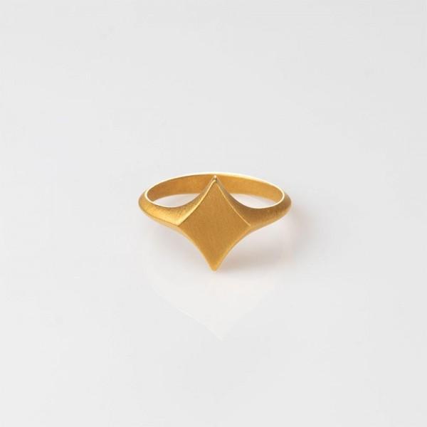 """Ring """"Diamond King"""" Silber vergoldet Größe 56 von Prigipo"""