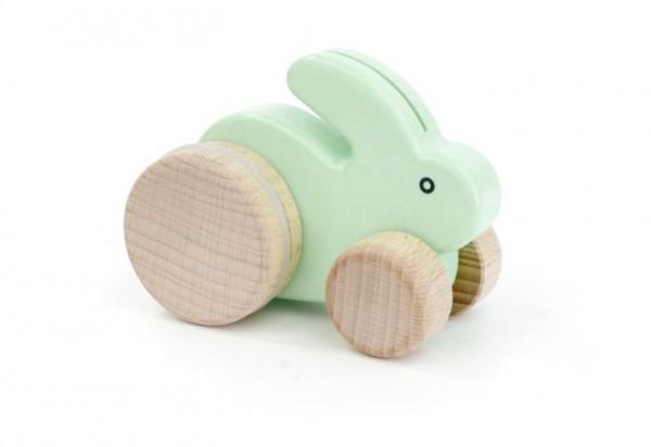 """Kleiner Hase """"mint"""" auf Rädern"""