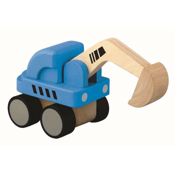 Mini Bagger blau von Plan Toys