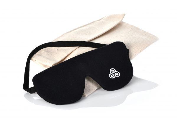 Premium Bio Schlafmaske Sommernachtstraum Schwarz von Lenz Schlaf Projekte