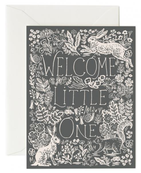 Klappkarte Fable Baby Card von RIFLE PAPER