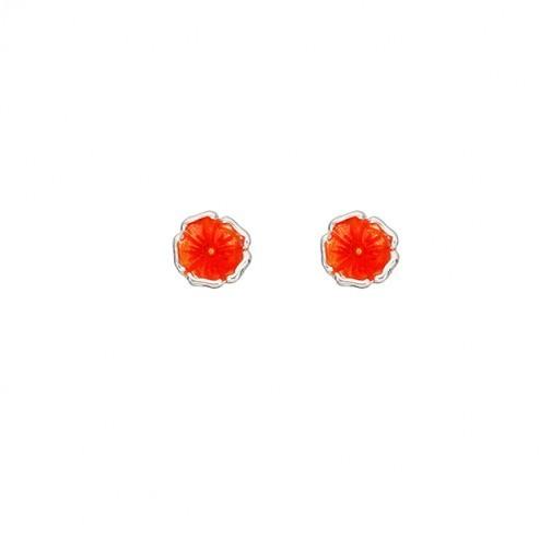 """Ohrring """"Orangene Blüte"""" von Onirolithi"""