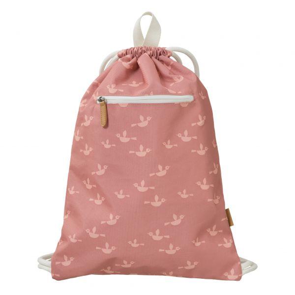 Schwimm- /Turnbeutel Vogel pink von Fresk