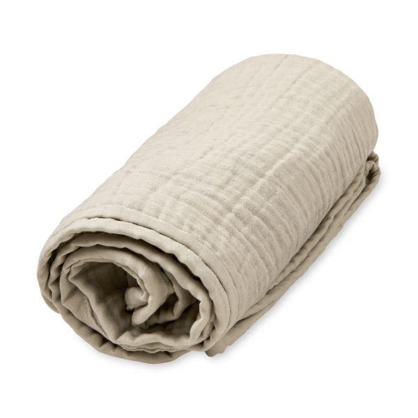 """Musselin Decke """"Light Sand"""" beige von Cam Cam"""