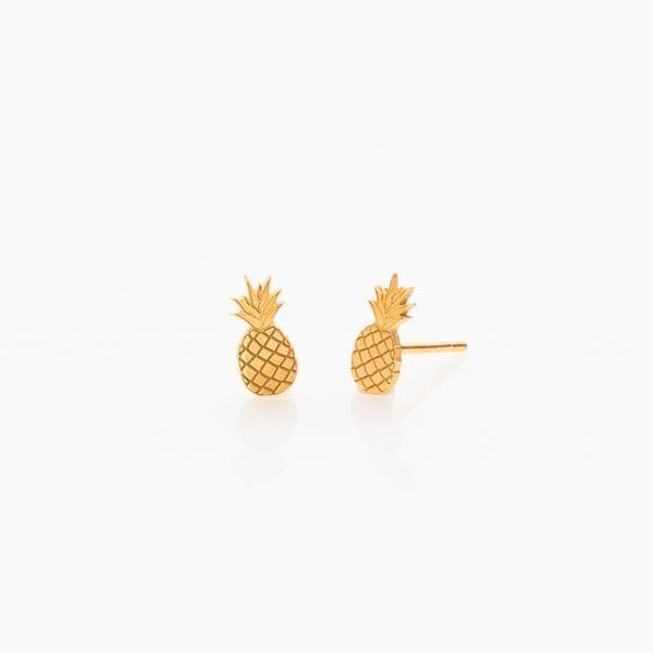 Toy Ohrringe Ananas Gold
