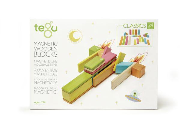 Magnetisches Holzset farbig 24 Teile von tegu