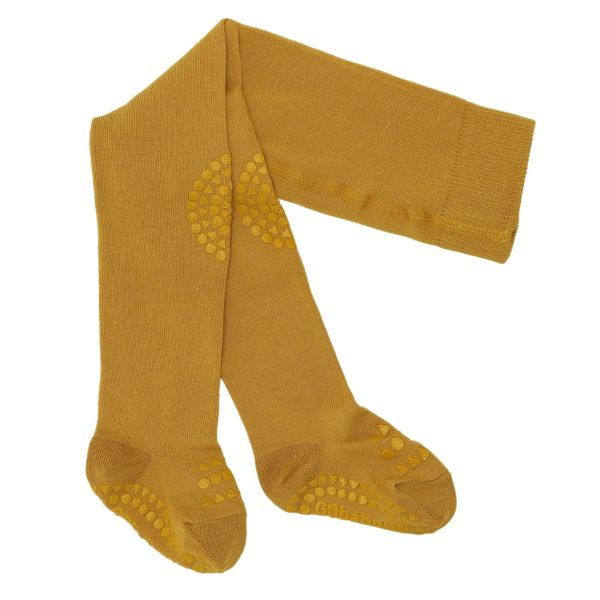 Crawling tights Strumpfhosen anti rutsch 12-18 M Mustard BoBabyGo