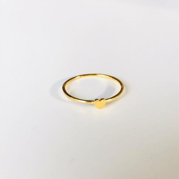 Zarter Ring 585 Gelbgold mit Herz von Krinaki