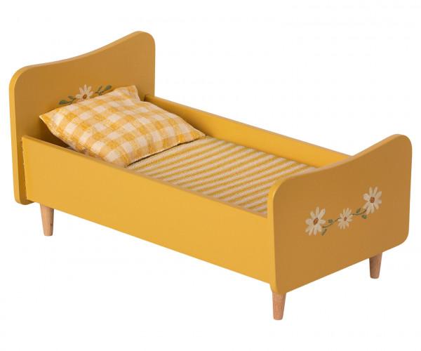 Wooden bed mini gelb von Maileg