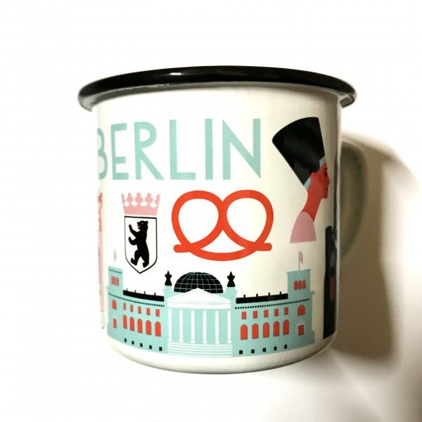 """Becher Emaille """"Berlin"""" von OMM Design"""