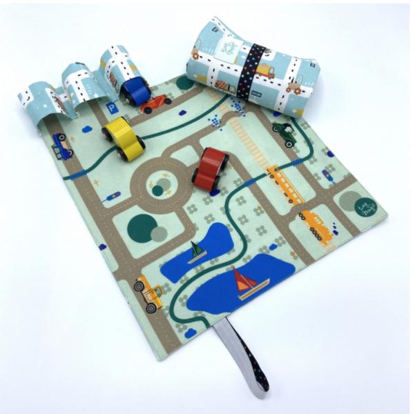 CarPet Autospiel retro blaue Straßen für unterwegs von tiny magic