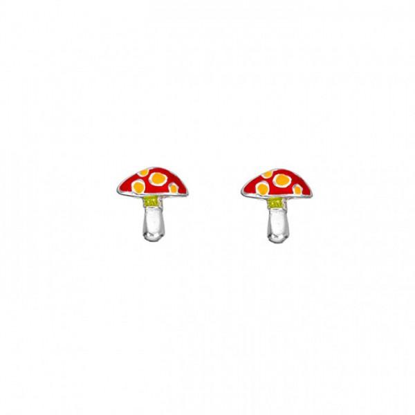 """Kinderohrring """"Pilz"""" rote Kappe mit gelben Punkten"""