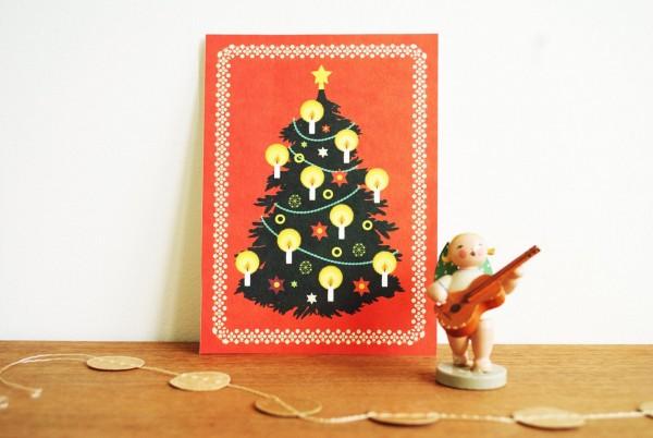 Weihnachtskarte Christbaum von Monimari