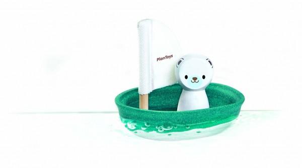 Segelboot Polarbär Plan Toys