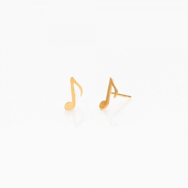 """Ohrringe """"Noten"""" Silber vergoldet von Prigipo"""