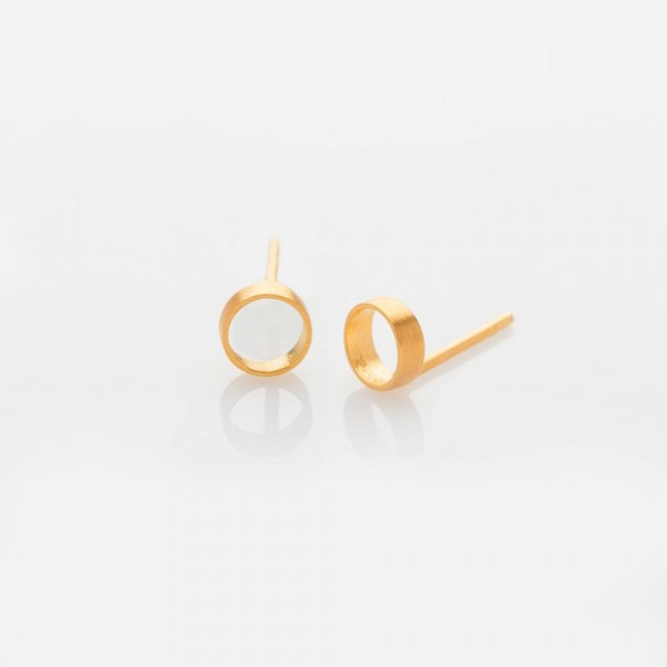 Zylinder Gold Ohrringe von Prigipo