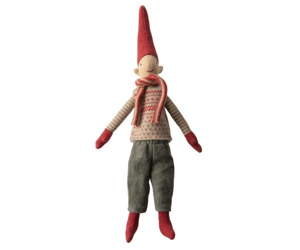 Kletter Wichtel Junge mit Pulli und Schal von Maileg