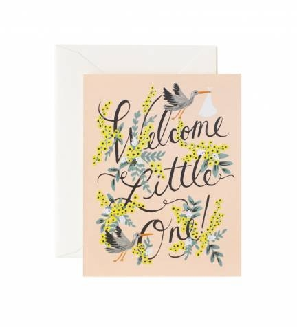 """Klappkarte """"welcome little one"""" gelbe Blumen von RIFLE PAPER CoB"""