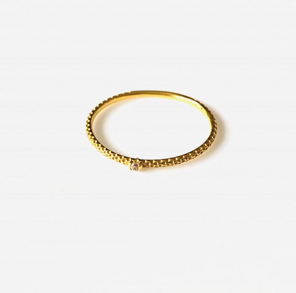 Zarter Ring 585 Gelbgold mit Diamant von Krinaki