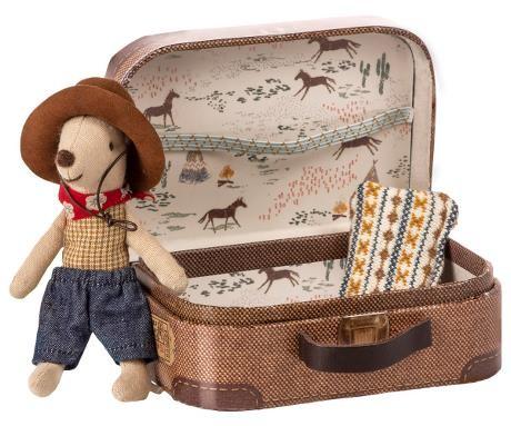 Cowboy Maus mit Koffer von Maileg