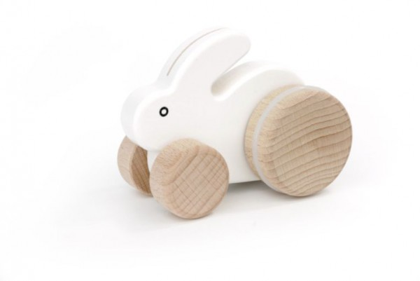 """Kleiner Hase """"weiß"""" auf Rädern"""