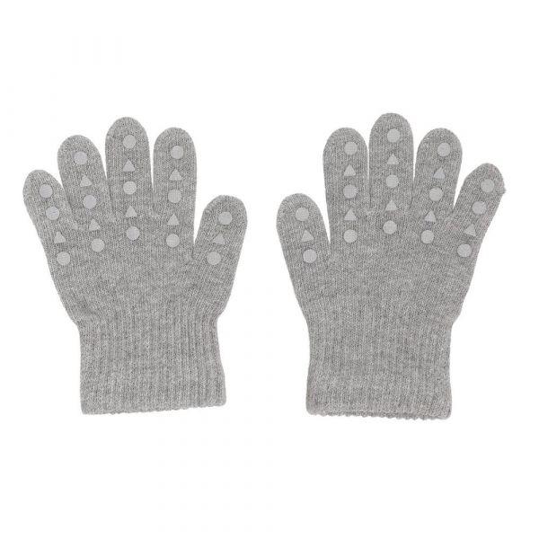 Grip Gloves Kinderhandschuhe mit Gumminoppen Grey Melange 4-5 Jahre GoBabyGo