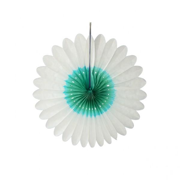Blume weiß grün 32 cm